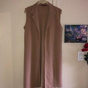 Chic blazer style longline vest